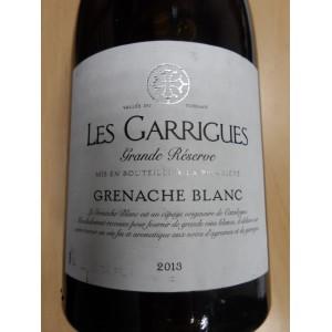 """Grenache blanc """"Les Garrigues"""" Grande Réserve blanc 2013 IGP Vallée du Torgan Cave Mont Tauch"""