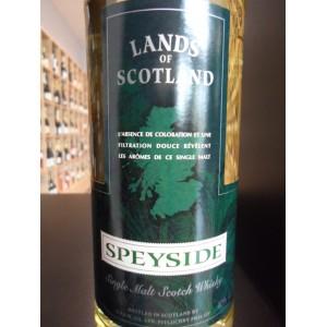 SPEYSIDE Lands of Scotland Single Malt scotch whisky 70cl 40%