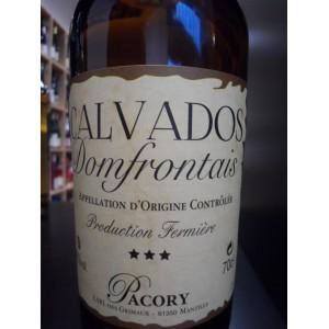 Calvados Domfrontais 3 Etoiles PACORY, Production Fermière, 42% 70cl