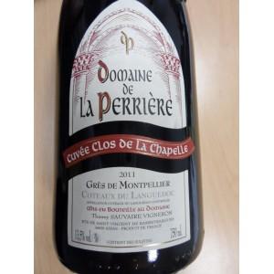 """Languedoc Grès de Montpellier """"Clos de la Chapelle"""" rouge 2011Domaine de la Perrière"""